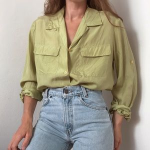 Vintage silk button-down